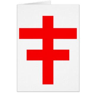 El Pattee cruzado del escocés Knights a Templar Tarjeta De Felicitación