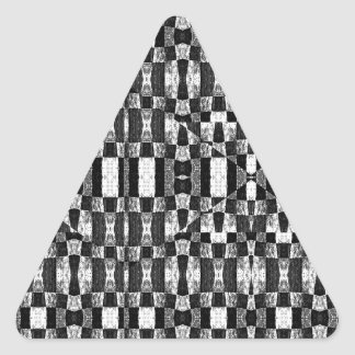 El Pattern  tribal geométrico blanco y negro Pegatina Triangular