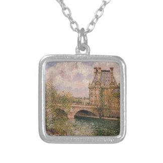 El Pavillion de Flore y el Pont real Colgante Cuadrado