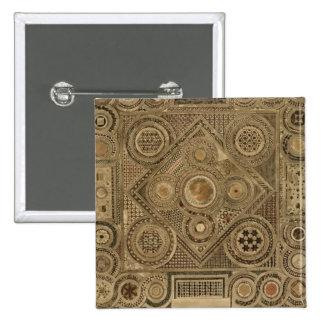 El pavimento de mosaico antes del altar, platea A  Pin Cuadrada 5 Cm