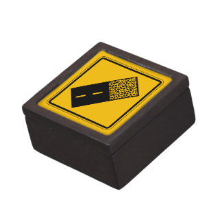 El pavimento termina 2, señal de peligro del caja de recuerdo de calidad
