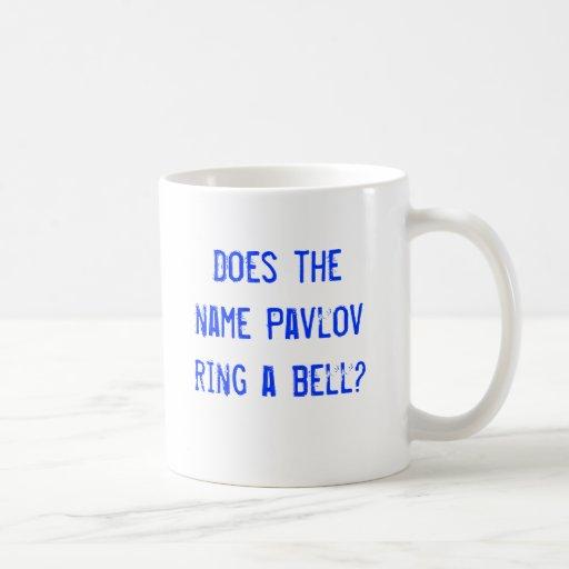 ¿El Pavlov conocido suena una campana? Taza