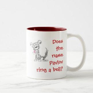 ¿El Pavlov conocido suena una campana? Taza De Café De Dos Colores