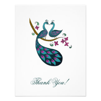El pavo real -1 le agradece tarjeta de nota comunicado personalizado