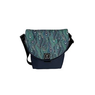 El pavo real abstracto empluma la mini bolsa de me bolsa de mensajeria