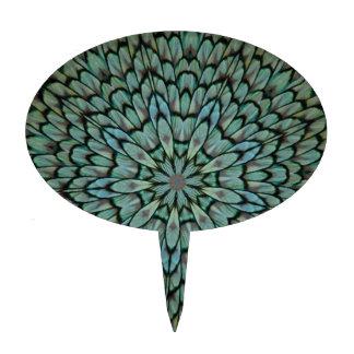 El pavo real atractivo empluma el caleidoscopio decoraciones de tartas