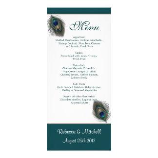 El pavo real azulverde empluma la tarjeta del esta lonas personalizadas