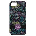 El pavo real bonito colorea el modelo de Paisley iPhone 5 Case-Mate Cárcasas