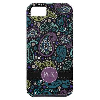 El pavo real bonito colorea el modelo de Paisley iPhone 5 Fundas