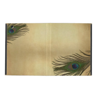 El pavo real de la apariencia vintage empluma eleg iPad carcasa