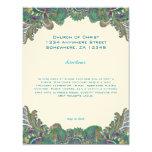 El pavo real de Paisley colorea a la recepción de Anuncios Personalizados