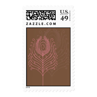 El pavo real de Swirly empluma sellos