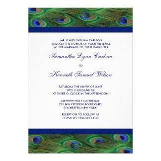 El pavo real del azul real del verde esmeralda emp comunicados personalizados