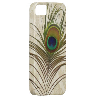 el pavo real del damasco del vintage empluma la iPhone 5 fundas