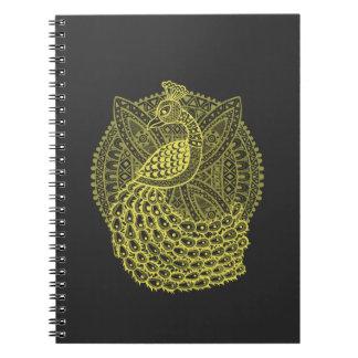 El pavo real del oro libros de apuntes con espiral