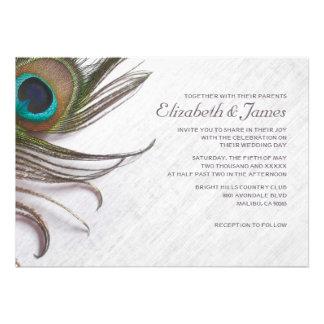 El pavo real elegante empluma invitaciones del bod invitación