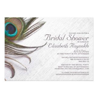 El pavo real elegante empluma invitaciones nupcial invitacion personalizada