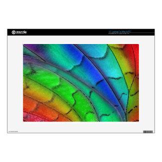 El pavo real empluma color portátil 38,1cm skin