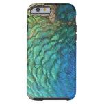 El pavo real empluma diseño abstracto colorido de funda de iPhone 6 tough