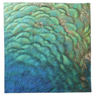El pavo real empluma diseño abstracto colorido de servilleta imprimida