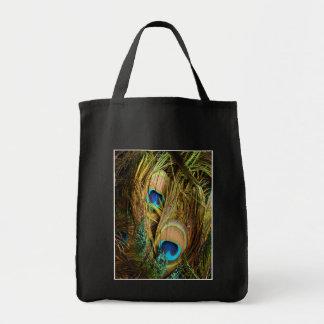 El pavo real empluma el bolso bolsa