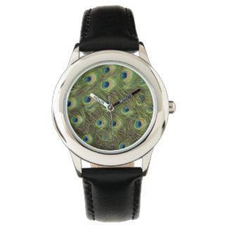 El pavo real empluma el modelo relojes