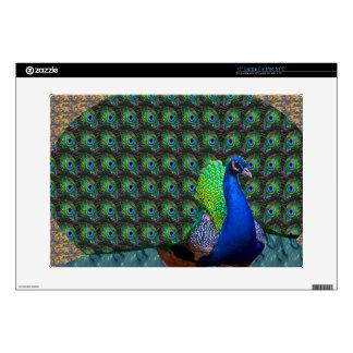 El pavo real empluma el pájaro nacional de la portátil skin