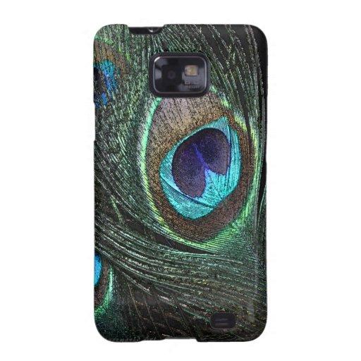 El pavo real empluma la caja de Samsung Galaxy SII Carcasas