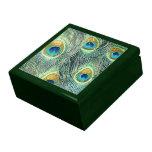 El PAVO REAL EMPLUMA la caja del recuerdo Cajas De Joyas