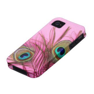 El pavo real empluma la caja dura de la casamata d Case-Mate iPhone 4 carcasa
