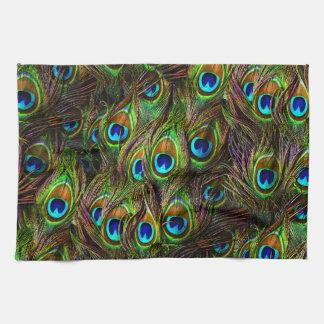 El pavo real empluma la invasión toalla de mano