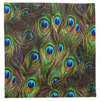 El pavo real empluma la invasión servilletas