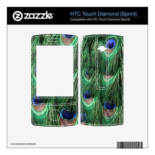 El pavo real empluma la piel del diamante del HTC  HTC Touch Diamond Calcomanía