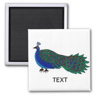 El pavo real en el IMÁN añade el texto