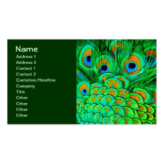 El pavo real falso empluma el modelo abstracto de tarjeta de visita