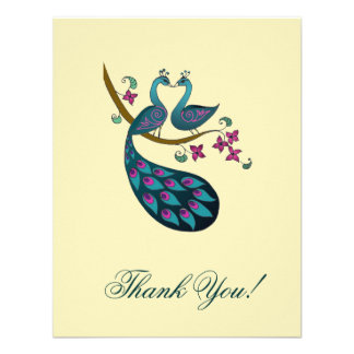 El pavo real le agradece las tarjetas - marfil invitacion personal