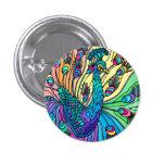 El pavo real muestra sus plumas pin