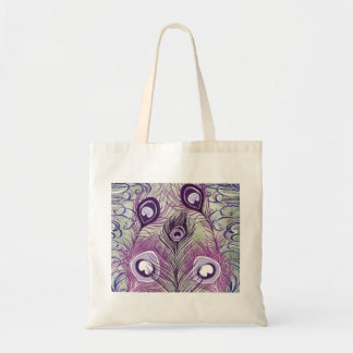 El pavo real púrpura bonito empluma diseño elegant bolsas de mano