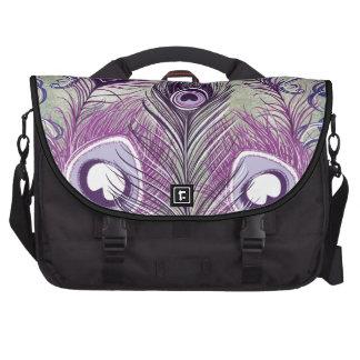 El pavo real púrpura bonito empluma diseño elegant bolsa de ordenador
