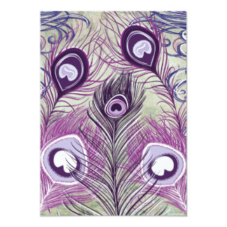 El pavo real púrpura bonito empluma diseño comunicado