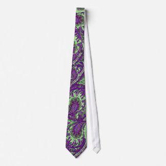El pavo real púrpura de Paisley colorea el lazo Corbata Personalizada
