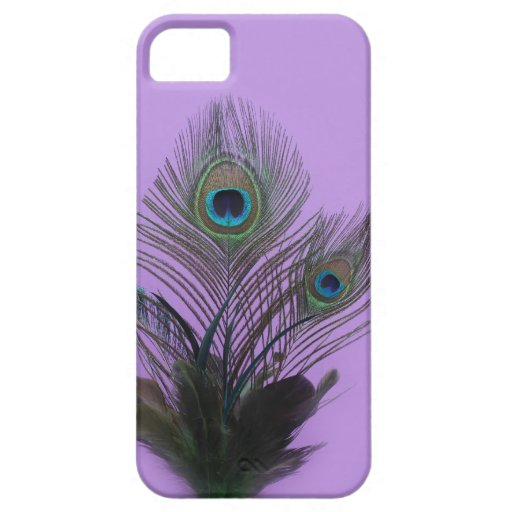 El pavo real púrpura empluma la casamata del funda para iPhone 5 barely there