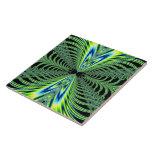 El pavo real que cautiva empluma fractal azulejos