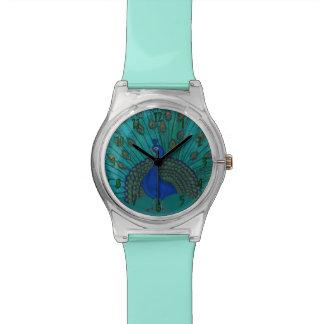 El pavo real reloj