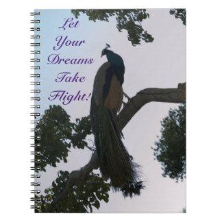El pavo real soña el cuaderno