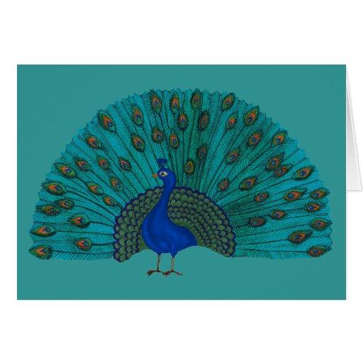 El pavo real tarjeta de felicitación