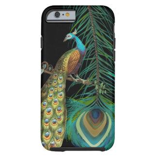 El pavo real y le empluma elige color de fondo funda de iPhone 6 tough