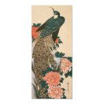 El pavo real y los Peonies por Hiroshige, ahorran Invitación 10,1 X 23,5 Cm