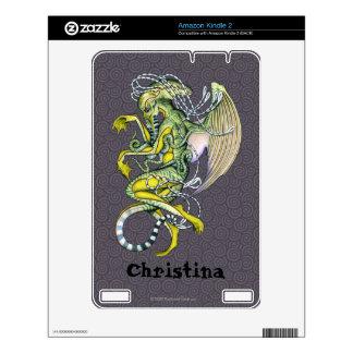 El pavor Cthulhu enciende 2 la piel 2 Kindle Calcomanía