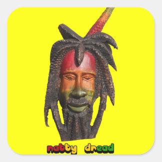 El pavor elegante cierra al pegatina de Rastafari